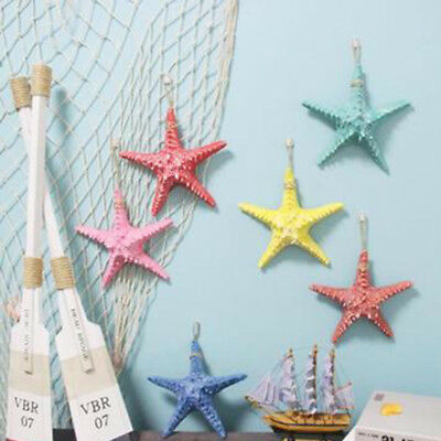 Resin Starfish Tropical Ornament Beach Ocean Wall Hanging Art Craft Home Decor