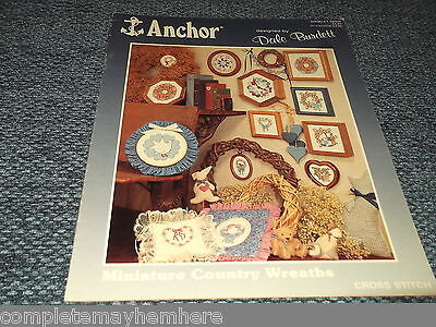 Miniature Country Wreaths booklet SB504 - Anchor by Dale Burdett Needlework
