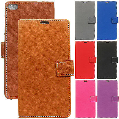 Book Wallet Flip PU Leather Kickstand Card Case Cover For Huawei Mobile Phones