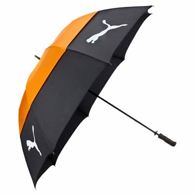 Puma Golf Tour Storm Double Canopy Umbrella Nylon Unisex Black Orange