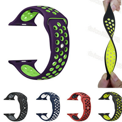 For Apple Watch Bands Series 2/1 Silicone Sport Strap Bracelet Watch Band