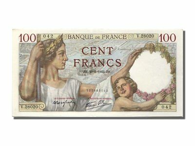 [#200333] France, 100 Francs, 100 F 1939-1942 ''Sully'', 1942, KM #94