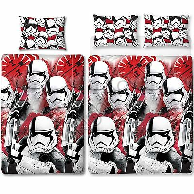 Star Wars Episode Viii Trooper Duvet Cover Set Kids Reversible - Single & Double