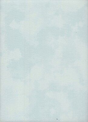 14 Count DMC Aida Cross Stitch Fabric Fat Quarter Marble Blue 49 x 55cms