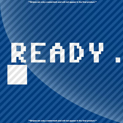 Commodore 64 Ready Prompt Decal Sticker - MANY OPTIONS