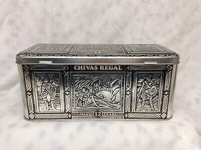 Vintage Chivas Regal Advertising Tin Box Hudson Scott & Sons Carlisle England