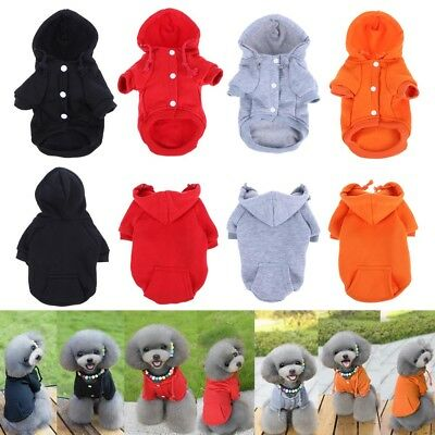 Winter Pet Dog Puppy Cute Warm Winter Soft Hoodie Coat Clothes Outwear Clothing