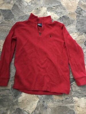 Polo Boys Youth 16/18 Red Half Zip