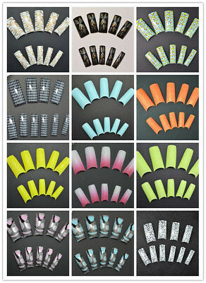 100/500 Half Cover FRENCH FALSE Acrylic NAIL ART Extension TIPS ARTIFICIAL au