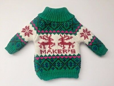 """MAKERS MARK Ugly Christmas Sweater Bottle Cover ~ Fits 750ml Bottle ~ 7"""" ~ NEW"""