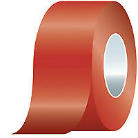 """Standard Floor Marking Tapes, SOLID, 3"""" x 108', Red  1 EA"""