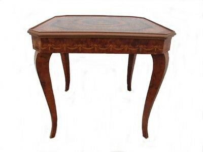 Vintage Sorrento Italian Roulette Chess Inlaid Wood game table