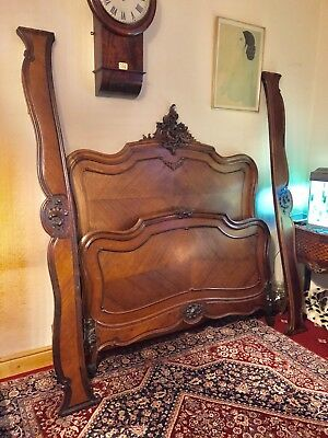Antique French Rosewood Double Bed