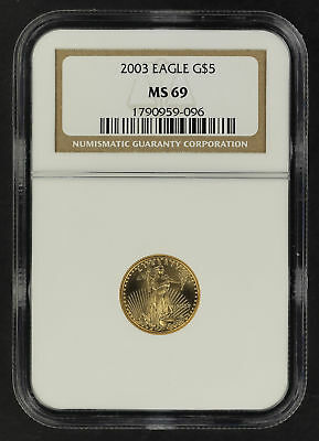 2003 $5 American Gold Eagle 1/10 oz NGC MS-69 -164409