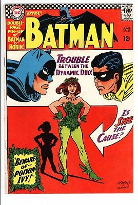 Batman #181 Vol 1 Very High Grade 1st App of Poison Ivy Complete With Pin-Up