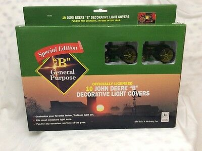 1990's John Deere B Tractor Christmas Patio Light Covers Set Mib