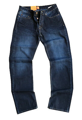 NEU! Hugo Boss Orange Blue Denim Regular Straight Fit 24 FAIR Herren Jeans