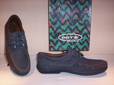 Sports shoes sneakers vintage Boy's Scout man loafers casual blue leather 43