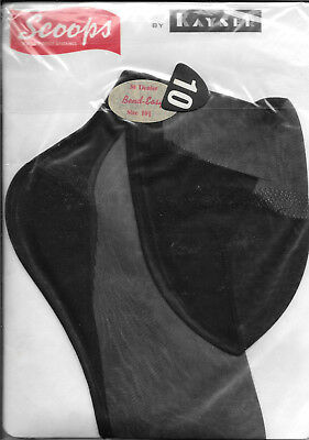 Vintage Kayser Scoops seamed and fully fashioned stockings, black sz 10