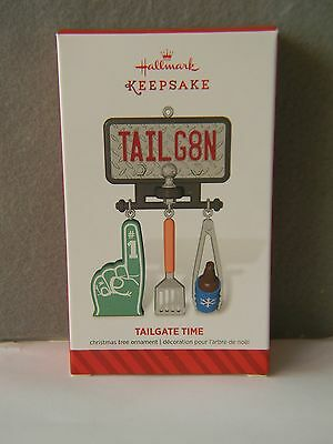 TAILGATE TIME - License Plate, Hitch & Grilling Tools - 2014 - HALLMARK ORNAMENT