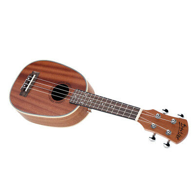 "ASTOUNDING & UNIQUE KAMAKA  21"" Pineapple-shaped Soprano Ukulele in Sapele Matte"