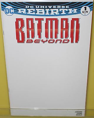 Batman Beyond #1 DC Comics 2016 Blank Get a Sketch Variant Cover Rebirth