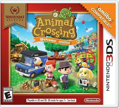 Nintendo Selects: Animal Crossing New Leaf Welcome Amiibo (2016) New 3DS Game