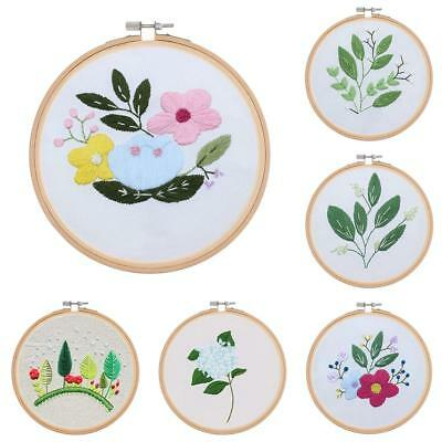 15cm Bamboo Wooden Embroidery Cross Stitch Hoop Ring for Sewing Craft Flower