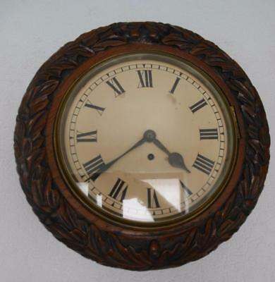 10 inch fusee dial clock in carved case