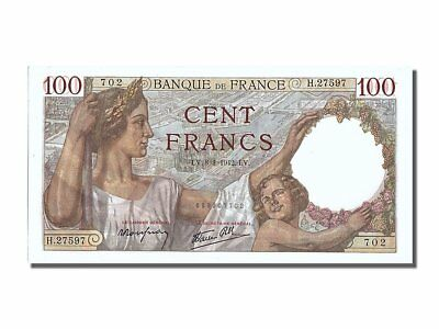 [#201102] France, 100 Francs, 100 F 1939-1942 ''Sully'', 1942, KM #94