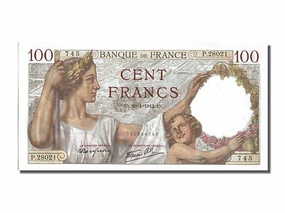 [#202237] France, 100 Francs, 100 F 1939-1942 ''Sully'', 1942, KM #94