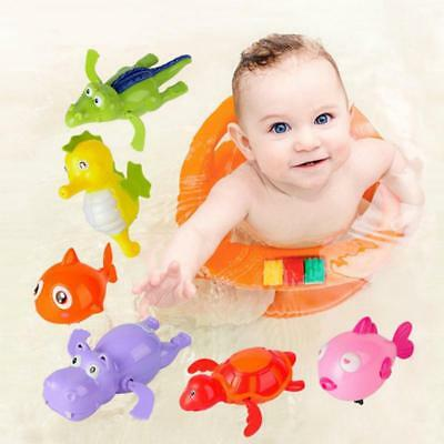 Swimming Animal Pool Toys Wind-up Toys Baby Toy Kids Bath Bathtub Time Fun JA
