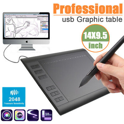 Professional USB Art Graphic Drawing Tablet Pen Painting Board Digital Pad Slim