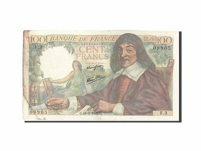 [#206201] France, 100 Francs, 100 F 1942-1944 ''Descartes'', 1942, KM #101a