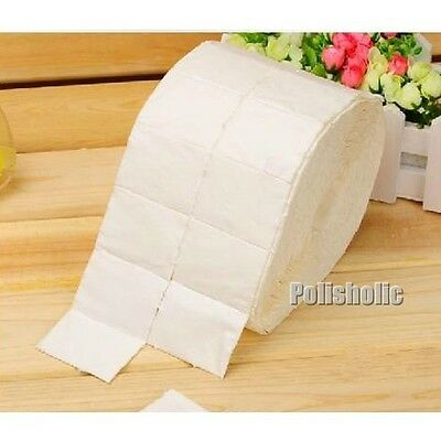 500Pcs/reel Pro Nail Polish Remover Cotton White Soft Nail Varnish Remover Paper