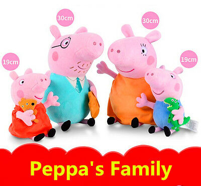 Hot Peppa Pig Full Family George Daddy & Mummy 30cm 19cm Plush Soft toys Gifts