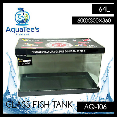 AQUATEE'S FISHLAND AQ-106 64L ULTRA Clear Curved Aquarium fish Tank HIGH QUALITY