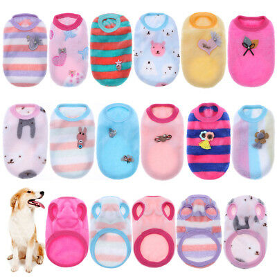 Small Pets Dog Puppy Cat Warm Clothes Coat Apparel Soft Sweater Vest Costume Pet