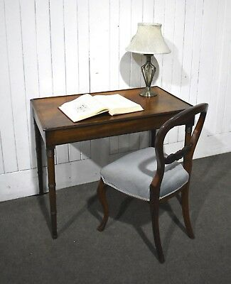 Antique Victorian mahogany console table / writing desk / dressing table