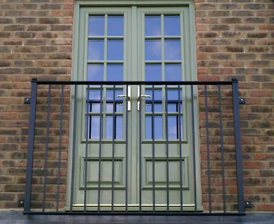 Hand Made Wrought Iron Juliet Balcony 2.2m/2m/1.8m/1.6m/1.4m/1.2m Available