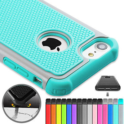 Shockproof Rugged Silicone Hybrid Hard Protective Case Cover for iPhone 7/7 Plus