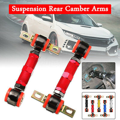 2x Adjustable Racing Rear Suspension Camber Control Arms Kit For Honda Civic