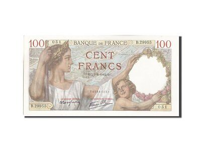 [#207476] FRANCE, 100 Francs, 100 F 1939-1942 ''Sully'', 1942, KM:94