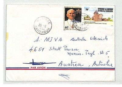 CA126 1985 Cameroon MISSION CATHOLIQUE *Ngambe* Air Cover MISSIONARY VEHICLES