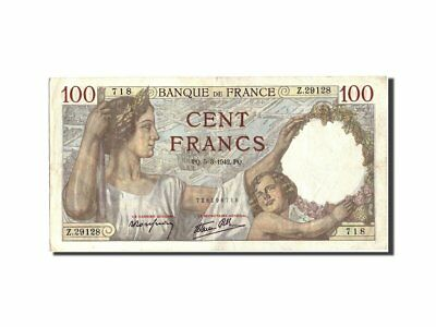 [#210058] France, 100 Francs, 100 F 1939-1942 ''Sully'', 1942, KM:94