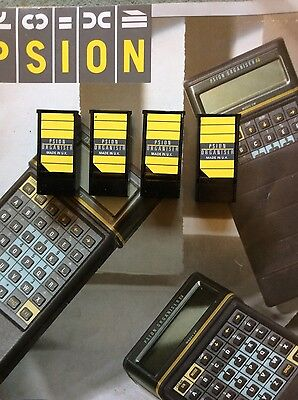 PSION II ORGANISER 32k DATAPACKS, BLANK AND FORMATTED x 4