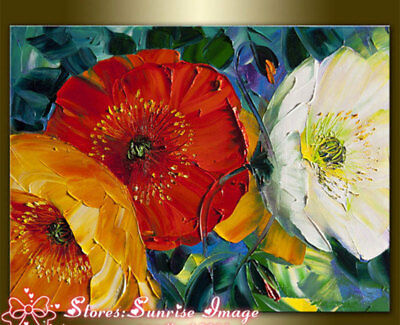 CHOP549 rare flowers 100%  hand painted oil painting on canvas wall art