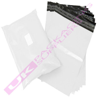 """3000 x SMALL 10x14"""" WHITE PLASTIC MAILING SHIPPING PACKAGING BAGS 60mu PEEL+SEAL"""