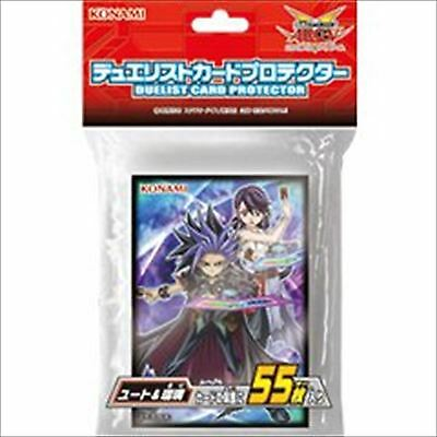 Yugioh Official Card Sleeve Protector : Yuto & Ruri / 55pcs japan konami