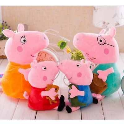 Peppa Pig Family Stuffed Toy Plush Doll George Mummy Daddy Baby Gift Bag